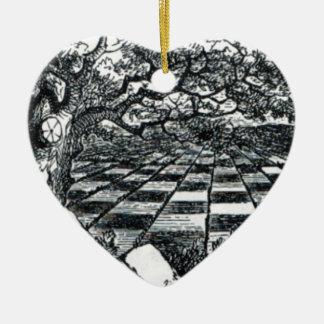 Ornamento De Cerâmica O conselho de xadrez no país das maravilhas