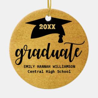 Ornamento De Cerâmica O conselho personalizado do almofariz da graduação