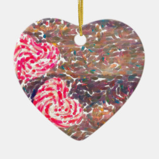 Ornamento De Cerâmica o contemporâneo abstrato não colore nenhum amor 51