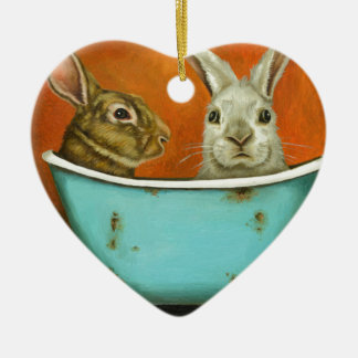 Ornamento De Cerâmica O conto de dois coelhos