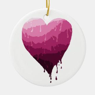 Ornamento De Cerâmica O coração dos namorados