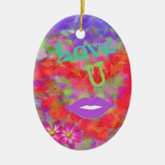 Ornamento De Cerâmica O coração igualmente fala do amor
