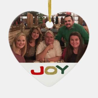 Ornamento De Cerâmica O costume 2 da alegria tomou partido Natal da foto