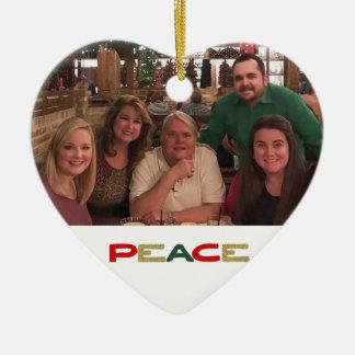 Ornamento De Cerâmica O costume 2 da paz tomou partido Natal da foto de
