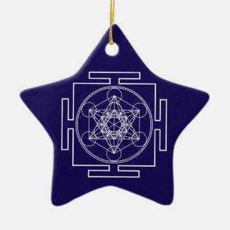 Ornamento De Cerâmica O cubo de Metatron