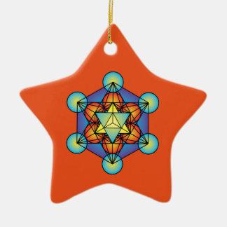 Ornamento De Cerâmica O cubo Merkaba de Metatron