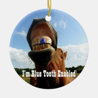 Ornamento De Cerâmica O dente azul permitiu o cavalo