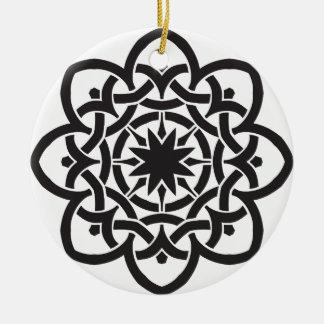 Ornamento De Cerâmica O design celta solteiro-tomou partido