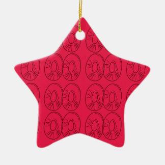 Ornamento De Cerâmica O design corta os bio limões vermelhos