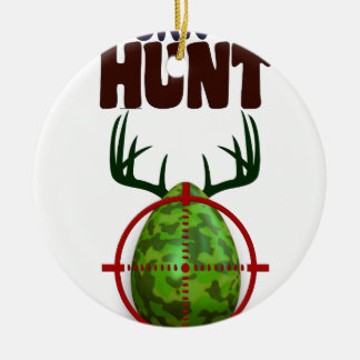 Ornamento De Cerâmica o design engraçado da páscoa, nascer para caçar