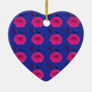 Ornamento De Cerâmica O design floresce o rosa azul