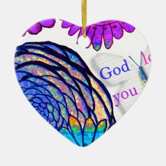 Ornamento De Cerâmica O deus ama-me o e!