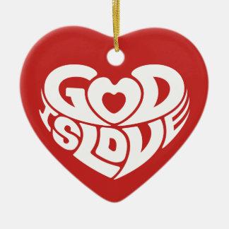 Ornamento De Cerâmica O deus do Natal é verso cristão da bíblia do amor