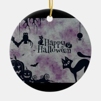Ornamento De Cerâmica O Dia das Bruxas feliz