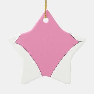 Ornamento De Cerâmica o diamante cor-de-rosa
