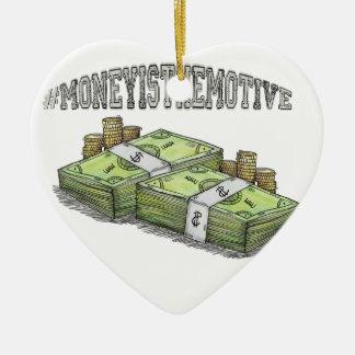 Ornamento De Cerâmica O dinheiro é a coleção a motor