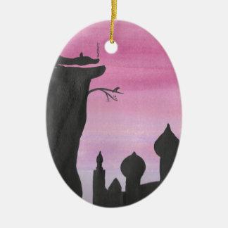 Ornamento De Cerâmica O dragão no alvorecer