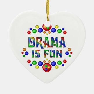 Ornamento De Cerâmica O drama é divertimento