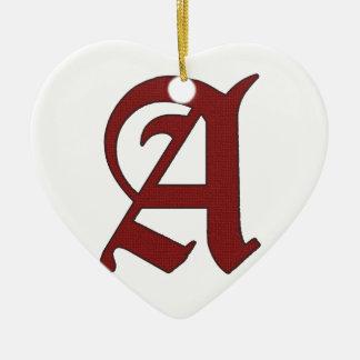 Ornamento De Cerâmica O escarlate de letra
