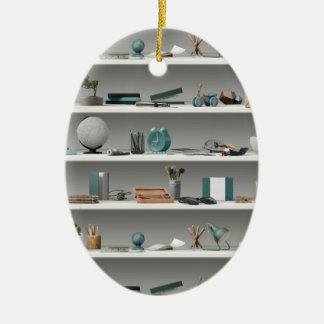 Ornamento De Cerâmica O escritório arquiva a cerceta do bem-estar