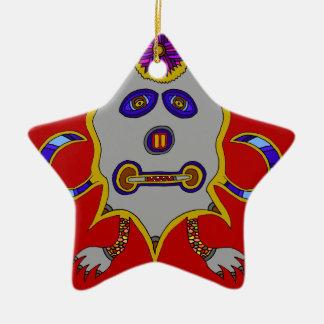Ornamento De Cerâmica O espírito do inverno frio Sun