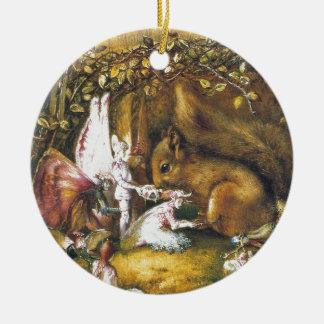 Ornamento De Cerâmica O esquilo ferido