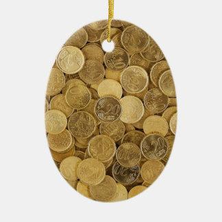 Ornamento De Cerâmica O euro inventa o mercado Europa do amarelo do