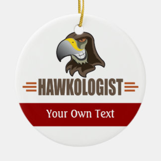 Ornamento De Cerâmica O falcão cómico Hawks a equipe do pássaro