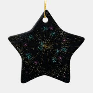 Ornamento De Cerâmica O feliz ano novo!