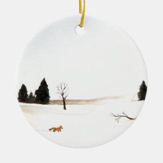 Ornamento De Cerâmica O Fox pequeno