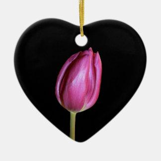 Ornamento De Cerâmica O fundo vazio das tulipas cor-de-rosa floresce