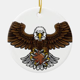 Ornamento De Cerâmica O futebol americano de Eagle ostenta a mascote