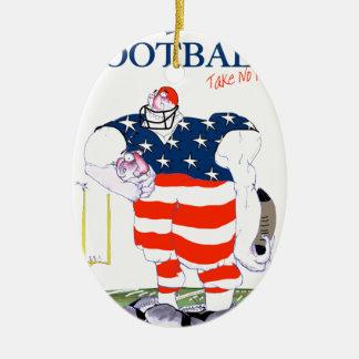 Ornamento De Cerâmica O futebol não toma nenhum prisioneiro, fernandes