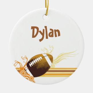 Ornamento De Cerâmica O futebol ostenta o nome personalizado jogo de