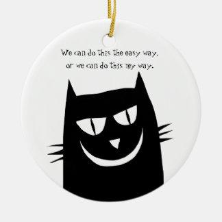 Ornamento De Cerâmica O gatinho diz: Nós podemos fazer esta MINHA