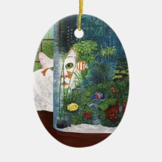Ornamento De Cerâmica O gato aquático