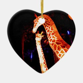 Ornamento De Cerâmica O girafa ilumina acima a arte do festival da