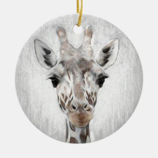 Ornamento De Cerâmica O girafa majestoso retratou multiproduct