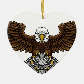 Ornamento De Cerâmica O golfe de Eagle ostenta a mascote