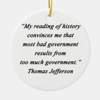 Ornamento De Cerâmica O governo mau - Thomas Jefferson