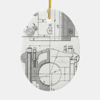 Ornamento De Cerâmica O gráfico do mecânico industrial do vintage