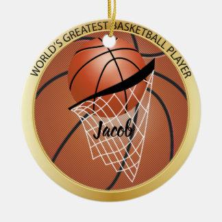 Ornamento De Cerâmica O grande jogador de basquetebol