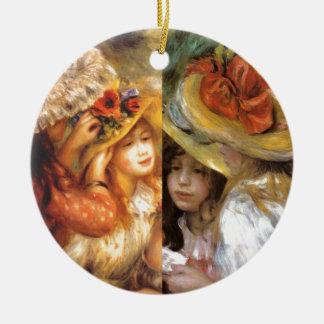 Ornamento De Cerâmica O headwear das mulheres é obra-primas na arte de