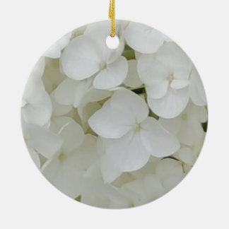 Ornamento De Cerâmica O Hydrangea floresce a flor elegante branca floral