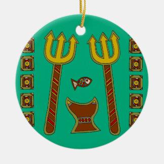 Ornamento De Cerâmica O imperador dos peixes