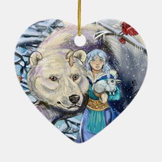 Ornamento De Cerâmica O inverno enrola Bear~ornament polar