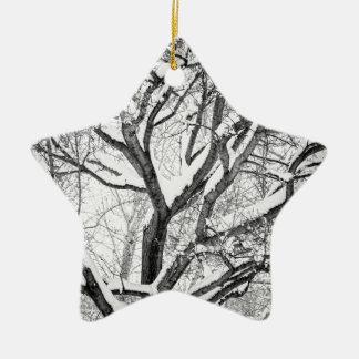 Ornamento De Cerâmica O inverno nevado entrelaça
