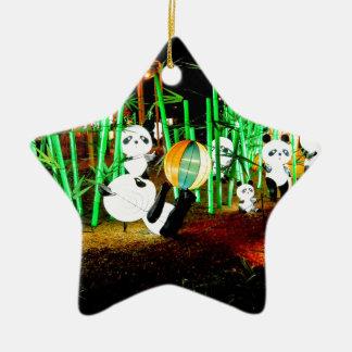 Ornamento De Cerâmica O jardim da panda ilumina acima a fotografia da