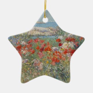 Ornamento De Cerâmica O jardim de Celia Thaxter, ilhas dos bancos de