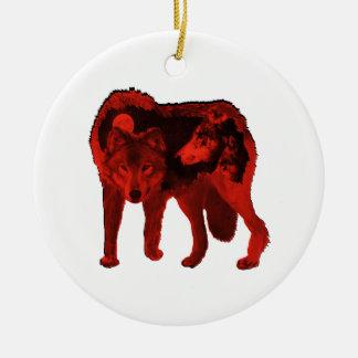 Ornamento De Cerâmica O lobo dentro